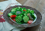 Finnish vegetable salad with fish