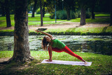 young woman practice yoga outdoor