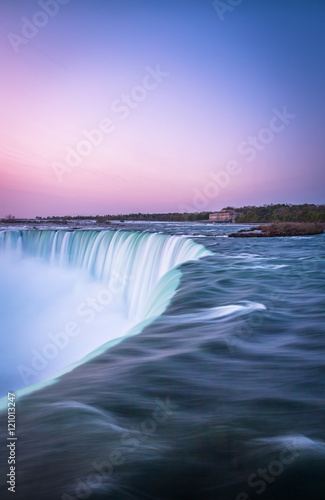 Aluminium Purper canada, destination, falls, landmark, landscape, nature, niagara, ontario, river, sunrise, sunset, trip, vacation, visit, water