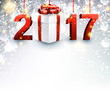 2017 New Year background with gift.