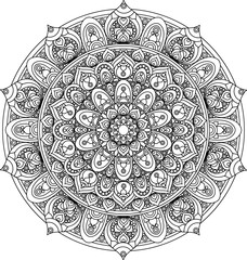 Vector vintage mandala ornament