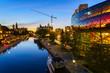 Ottawa Rideau Canal at dusk