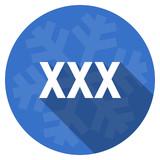 xxx blue flat design christmas winter web icon with snowflake