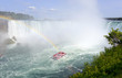 Rainbow in the mist, at Niagara Falls on the border of Canada and the United States