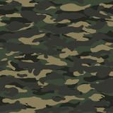 Fototapety Seamless wide fashion woodland camo pattern vector