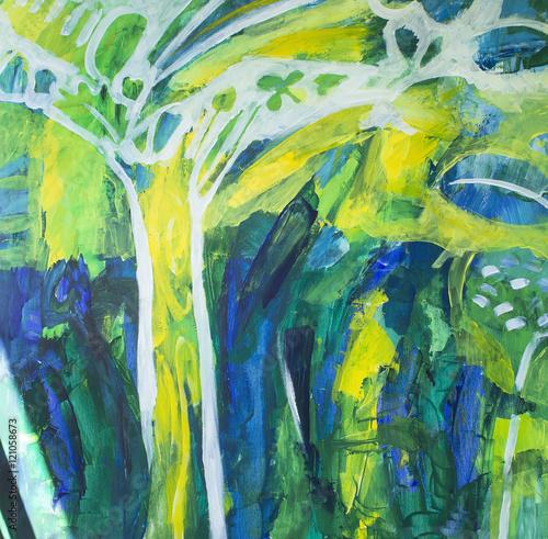 Fototapeta Painting Spirit Tree as a Background