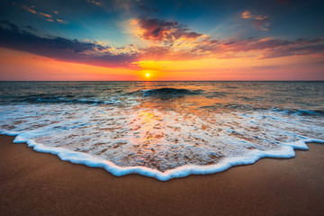 Beautiful sunrise over the sea © ValentinValkov