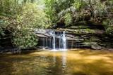Fototapety scenic views along hiking trailat table rock mountain south caro