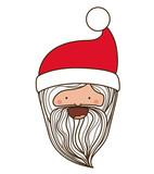 Santa cartoon icon. Merry Christmas season decoration figure theme. Isolated design. Vector illustration