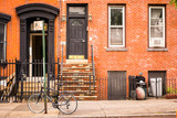 typical brownstone house - 121084035
