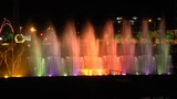 Georgia. Night dancing fountain. Magic Fountain in Batumi