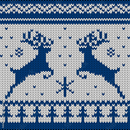Cotton fabric Knitted Scandinavian ornament