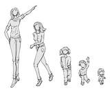 Meisjes verschillende groottes