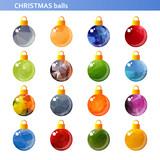 multicolored christmas balls