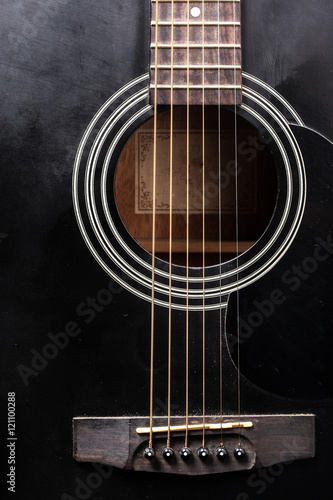 detail of classic guitar - 121100288
