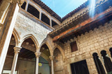 The Museu Picasso's cloister in Barcelona - Spain - 121100657