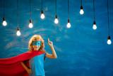 Superhero child at home