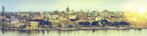 Wide panorama over Havana in Cuba Poster