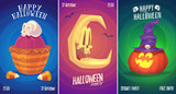 vector set of halloween illustrations