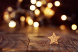 Christmas background with stars and bokeh - 121122464