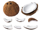 Fototapety Coconut pieces