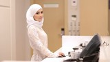 Beautiful Muslim Girl In Reception Hotel