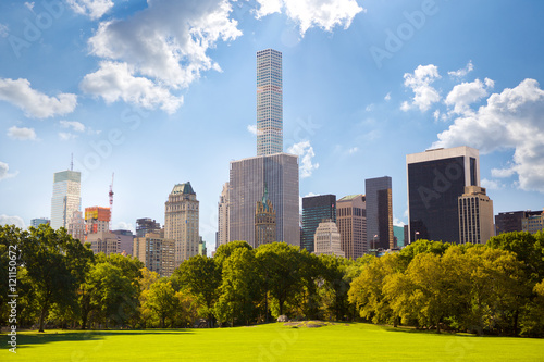 Central Park and Manhattan skyscrapers in New York City Poster