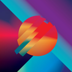 Material design abstract vector background with geometric isometric shapes. Vivid, bright, glossy colorful symbol for wallpaper.