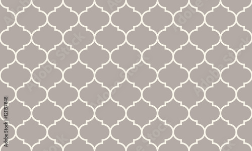 Seamless anthracite gray wide moroccan pattern vector - 121157848