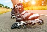 Roller blading legs