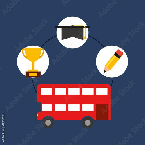 Zdjęcia na płótnie, fototapety, obrazy : learn english education icons vector illustration design