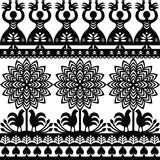Seamless Polish folk art black pattern Wycinanki Kurpiowskie - Kurpie Papercuts - 121194250