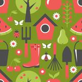 Garden pattern seamless