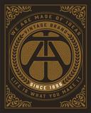 Vintage logo. Design with Flourishes Elements. Vector Illustrati