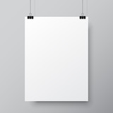 Blank White Poster Template - 121224814
