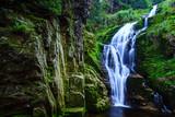 Kamienczyk Waterfall in Karkonosze National Park in Poland Sudety Mountains near Szklarska Poreba town.