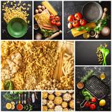 peparazione pasta italiana collage