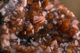 Quartz with iron oxide on hematite.