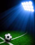Soccer ball on stadium - 121254636