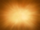 Fototapety gold background with sunburst design, rays or beams of light streaming from heaven illustration, gold radial blur