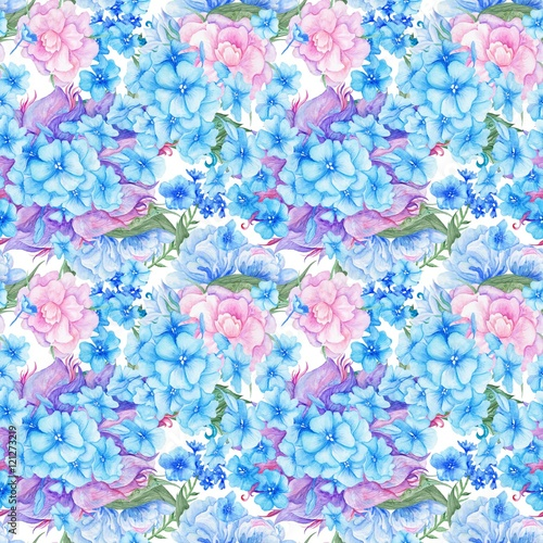 Fototapeta Shabby Chic Vintage Romantic Floral Pattern