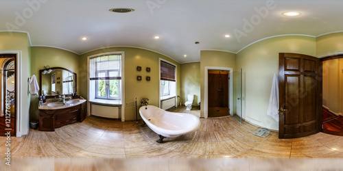 Poster Home interior in panoramic 360 degree view