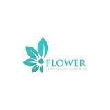 Fototapety leaf flower logo icon