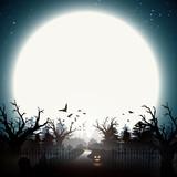 Halloween illustration - gloomy forest