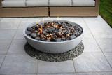 modern patio fire pit - 121310298