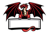 dragon mascot spread the wings