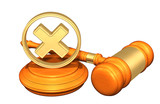 """Denied Legal Gavel Concept 99074183,Chinese currency"""""""