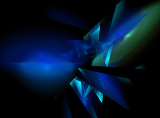 Abstract dark blue square fractal
