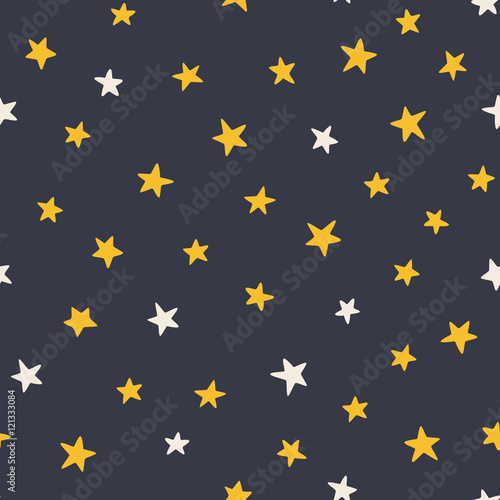Cotton fabric Cute stars pattern