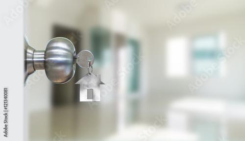 Open door with keys
